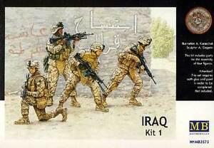 MB Masterbox Modern US Infantry Iraw Iraq 4 Figurines 1:3 5 Model Kit New Kit
