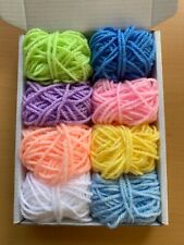 Craft Pompom Felting Job Lot Small Balls of Yarn Over 300g of 30 mixed colours