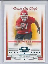 TAMBA HALI 2006 DONRUSS THREADS BLUE PARALLEL CHIEFS RC #D 89/200