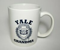 YALE GRANDMA Coffee MUG Cup Lux et Veritas College University White Ceramic Gift