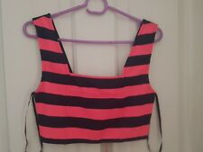 Bnwts PAINT IT RED Pink & Black Crop top size S