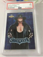 Undertaker 2010 Topps Wwe Rumble Pack Blue Foil Insert Card #2 Psa 7 Low Pop