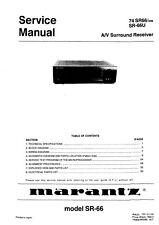 Service Manual-Anleitung für Marantz SR-66