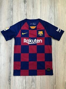 Barcelona Barca 2019-2020 Home Football Soccer Shirt Jersey L boys 12-13 years