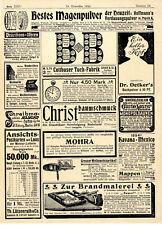 ALBERO di Natale gioielli vetro SOFFIATORE steinheid Th. DR. Oetker Back polvere Burro Orologio 1899
