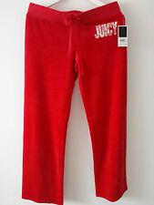 Authentic Women's Juicy Couture Original Low Waist Pants Red M L Velour 12/14