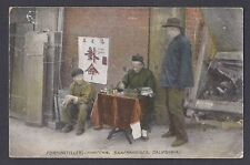 Ca1905 POST CARD SAN FRAN CA CHINESE FORTUNE TELLING SUAN MING SEE INFO