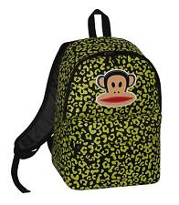 PAUL FRANK - JULIUS MONKEY LEOPARD PRINT SCHOOL BACKPACK - YELLOW/BLACK