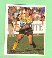 1993  BRISBANE BRONCOS  SELECT RUGBY LEAGUE  STICKER - #36  KEVIN WALTERS