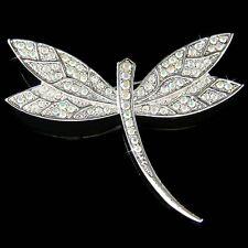 Big w Swarovski Crystal ~DRAGONFLY Bridal Wedding Bouquet Jewelry Pin Brooch New