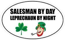 Vendedor por día Leprechaun-irlandés / Comercial / venta etiqueta engomada del vinilo 16cm X 9 Cm