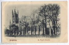 Brighton, Sussex, England Sheldrick Postcard - St Peter's Chuch - 1905