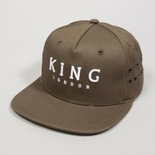 King Apparel Stepney Pinch Panel Snapback Cap - Fern - One Size [NEW]