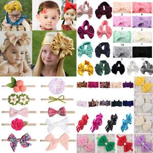 Baby Bow Headband Girl Infant Toddler Newborn Knot Turban Hair Band Head Wrap