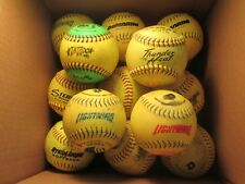 "Lot of (22) Used Yellow Green 12"" Softballs (#2)"