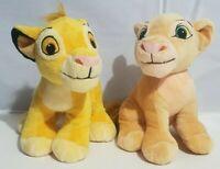 "Disney Just Play Lion King Plush Simba & Nala Cubs Stuffed Animal 9"" Set of 2"