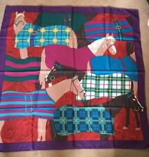 "GUCCI Scarf Stole Silk 100% Horse Animal print Women Luxury Auth New Rare 34"""