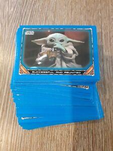 Topps 2020 Star Wars The Mandalorian Season 1 Bulk Blue Base Cards UK Seller