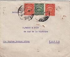 Lettre Bolivie pour Paris Via Buenos-Aires 1924 Bolivia Cover Brief