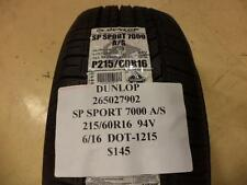 2 DUNLOP SP SPORT 7000 A/S 215 60 16 94V BRAND NEW PAIR 265027902