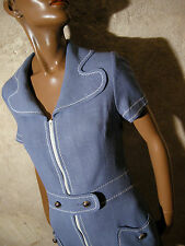 CHIC VINTAGE ROBE 1960 VTG DRESS 1960s MOD TWIGGY KLEID 60er ABITO RETRO (38)