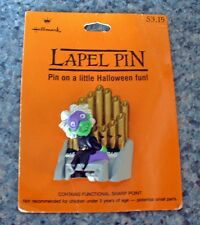 BUY1&GET1@50%~Hallmark PIN Halloween MOC PHANTOM Green Man PIPE ORGAN Player Vtg