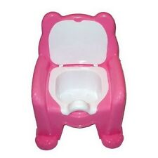 FUNNY Teddy Bear Kids Potty Training Seat Chair With Lid For Both Boy/Girl