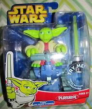 Star Wars Jedi Force YODA w/SWAMP STOMPER with WORKING Light Saber  MISB