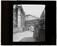Italia Roma Targa Di Proiezione Per Lanterna Magica Vintage Ca 1900