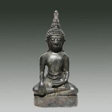 Antique Bronze Laos Meditating Sakaymuni Buddha 18th Century