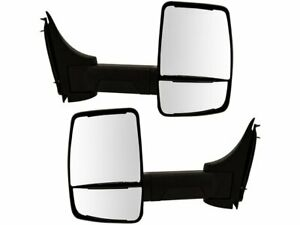 LUJUNTEC Driver Side and Passenger Side View Mirrors Fits for 2008-2017 Chevrolet Express Van 2008-2017 GMC Savana Van Manual Folding Heated Turn Signal Black 15227416
