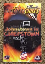 07-08 Johnstown Chiefs Slapshot ECHL Minor League Hockey Gameday Program Issue 1