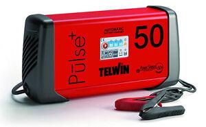 Caricabatterie carica batteria elettronico automatico TELWIN Pulse 50 6-12-24V