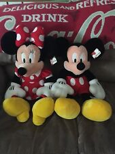 Disney Mickey And Minnie Mouse Stuffed Plush Animals From The Disney Store