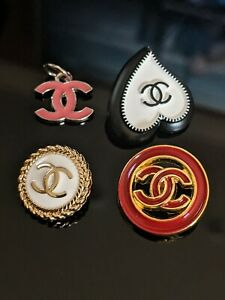 Assorted CHANEL Buttons Stamped Authentic Mixed Sizes CC