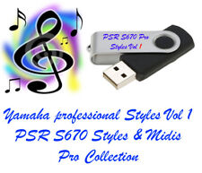 PSR S670 Professional styles and Midi's USB pen drive for Yamaha Keyboards.