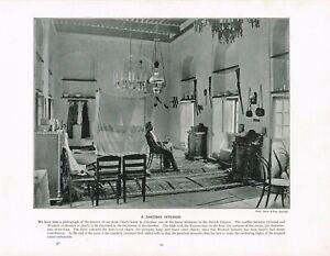 Zanzibar Interior Of Arab Chief's Home Africa Antique Print Picture 1897 TQE#125