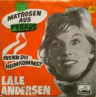"""Lale Andersen Matrosen Aus Pyräus 7"""" Single Mono Vinyl Schallplatte 44409"""