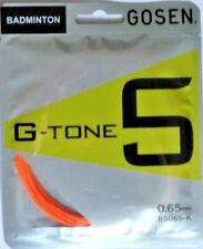 Gosen Badminton string G-Tone 5, 0,65 mm, Set of 10 m, Orange