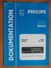 Dokumentation Philips Hornyphon Attache SX0244 Schaltplan Stückliste Daten