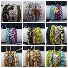 P27 ohm wholesale bulk 60 hippie,boho,surf,friendship adjustable bracelets