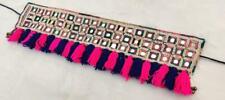 Vintage Ethnic Kuchi Tribal Banjara Afghan Rare Old Mirror Tassel Belt/ Trim