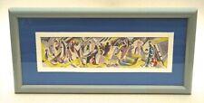 Antique Modernist Gouache Algerian Morocco Motif Buffalo Artist Norbert Kammer