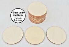 10 x 15mm Wooden Circle Laser Cut Shape Ply Blank Craft Circles Wood DIY Shapes