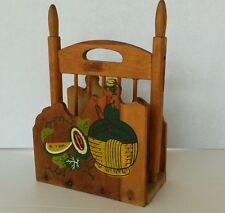 Vintage Ucagco Foil Mark Japan Wood Napkin Holder Dispenser Ladder Back Chair