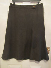 Marks and Spencer A-line wool skirt size 18 brown fully lined