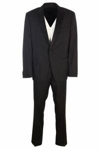 HUGO BOSS Tuxedo Black Wool Jacket & Trousers Size 56 TR 769