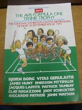24/09/1979 TENNIS: l'AVIS FORMULA UNO Tennis Trophy-programma ufficiale, in n