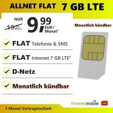 Handytarif monatlich kündbar Allnet Flat 7 GB Internet LTE Sim Karte mit Vertrag