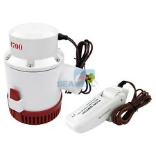 12V 4700GPH Bilge Pump Marine Boat Submersible Water Pump With Float Switch